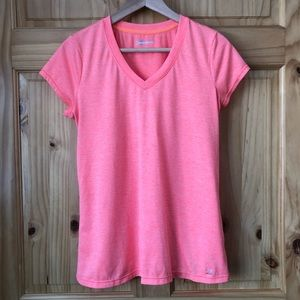 Xersion performance wear neon v-neck top size M